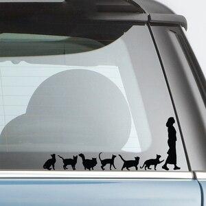 Image 4 - 20*7.8 センチメートル猫クレイジー猫女性かわいい変な車の窓デカールバンパーステッカーペットペットビニール車ラップの装飾