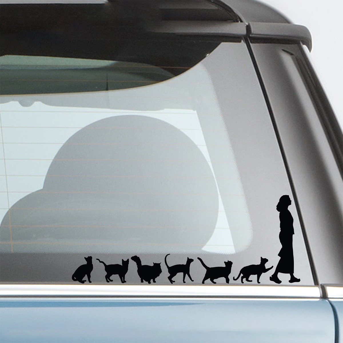 Image 4 - 20*7.8cm Cats Crazy Cat Lady Woman Cute Funny Car Window Decal Bumper Sticker Pet Pets Vinyl Car Wrap Decor Decals-in Car Stickers from Automobiles & Motorcycles