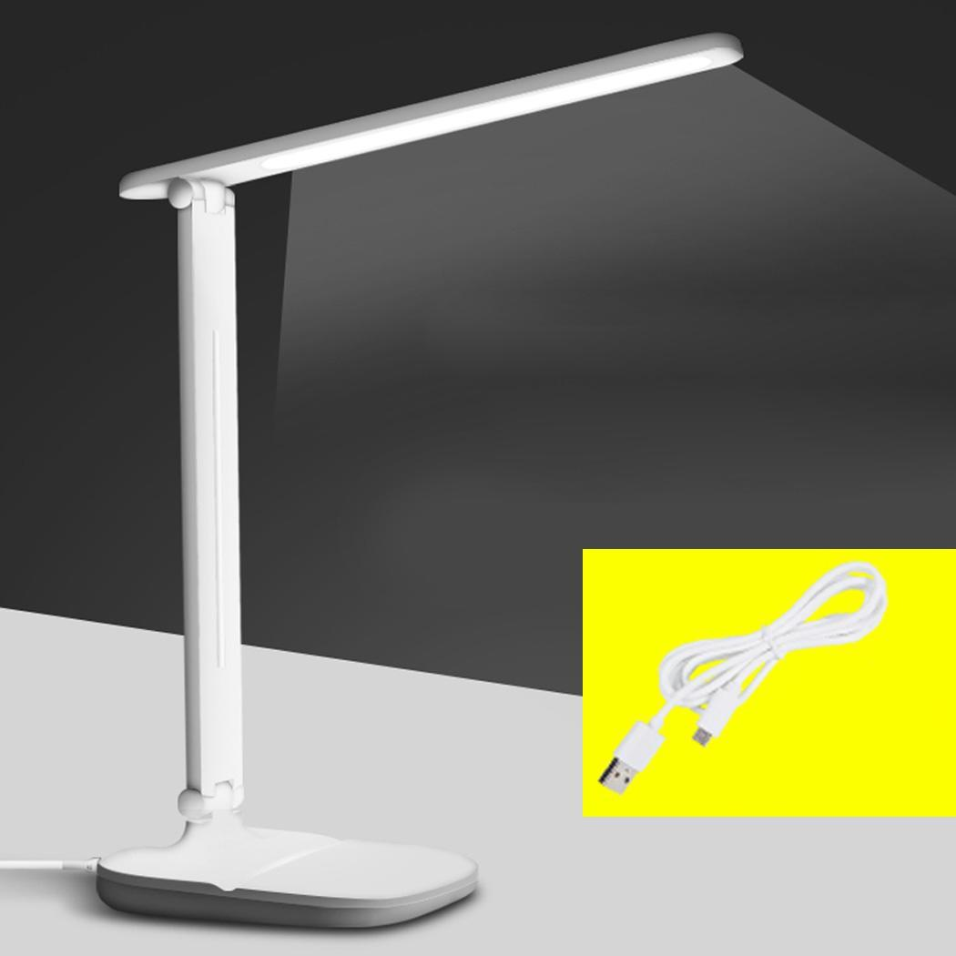 Capable Student Eye Protection Folding Usb Desk Lamp White Dimmable Led Study Work Soft Lighting Power Saving Lamp Buy One Give One