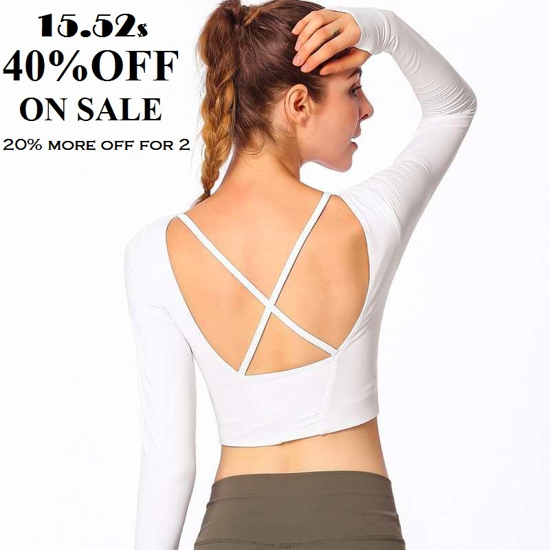 High Elastic Slim Fit Gym Workout Running Sports Fitness Long Sleeve Women Yoga Top Crop Top Yoga Shirt with Removable Pads цена 2017