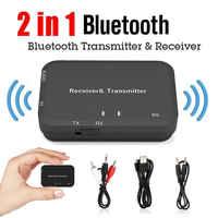 2 en 1 V4.2 Bluetooth émetteur récepteur adaptateur + câble Audio 3.5mm + USB chargeur câble + RCA câble Audio Bluetooth adaptateur 4.2