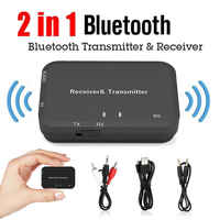 2 en 1 V4.2 Bluetooth receptor transmisor Adaptador + Cable de Audio 3,5mm + Cable de cargador USB + Cable RCA de Audio adaptador de Bluetooth 4,2