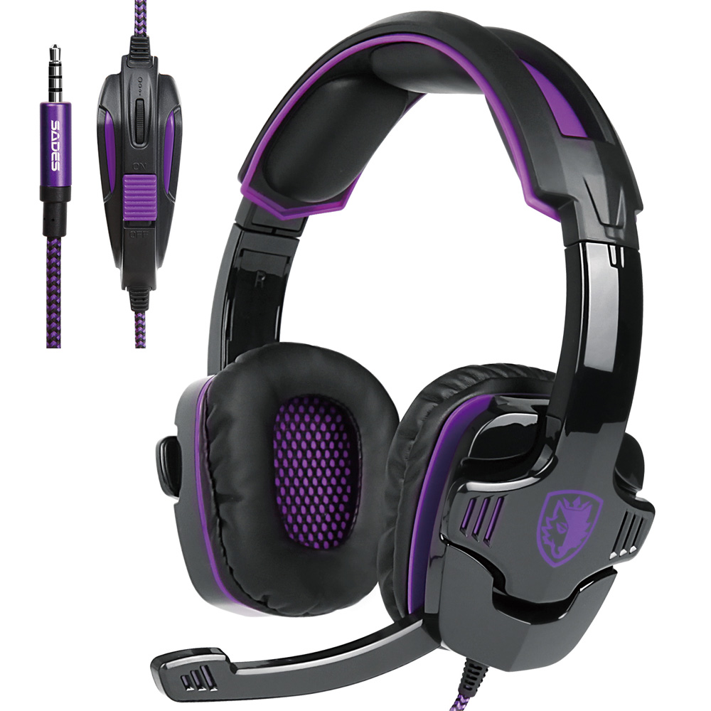 CZ Stock SA-930 Gaming Headset with Mic Noise Cancellation Stereo Music Headphone Volume Control for Laptop PC Mobile Phones