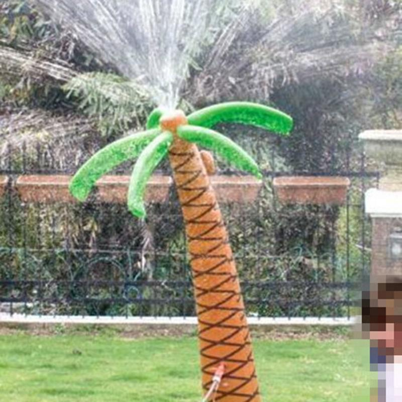 1.6M Inflatable Coconut Palm Tree Toy Water Sprinkler Inflated Children Summer Water Spray Toys for Sand-beach Party Decorations1.6M Inflatable Coconut Palm Tree Toy Water Sprinkler Inflated Children Summer Water Spray Toys for Sand-beach Party Decorations