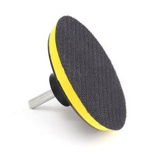 Image 5 - 10 adet zımpara Disk zımpara kancası döngü 1000 Grit + destek pedi + matkap adaptörü yuvarlak zımpara sekiz delikli Disk kum levhalar