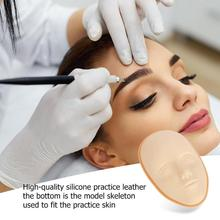 3D Silicone Face Tattoo Practice Skin High Quality Design Fake Skins For Beginners Permanent Makeup