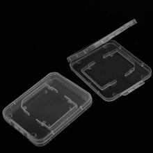 New 20pcs Transparent Hard Plastic Standard SD SDHC Memory Card Case Holder Protector Storage Box(China)