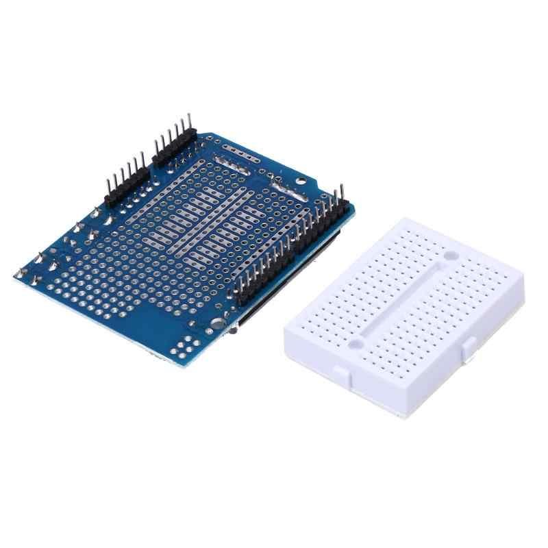 Arduino mega + white breadboard 용 미니 빵 보드가있는 5 pcs 프로토 타입 쉴드 protoshield v3 확장 보드
