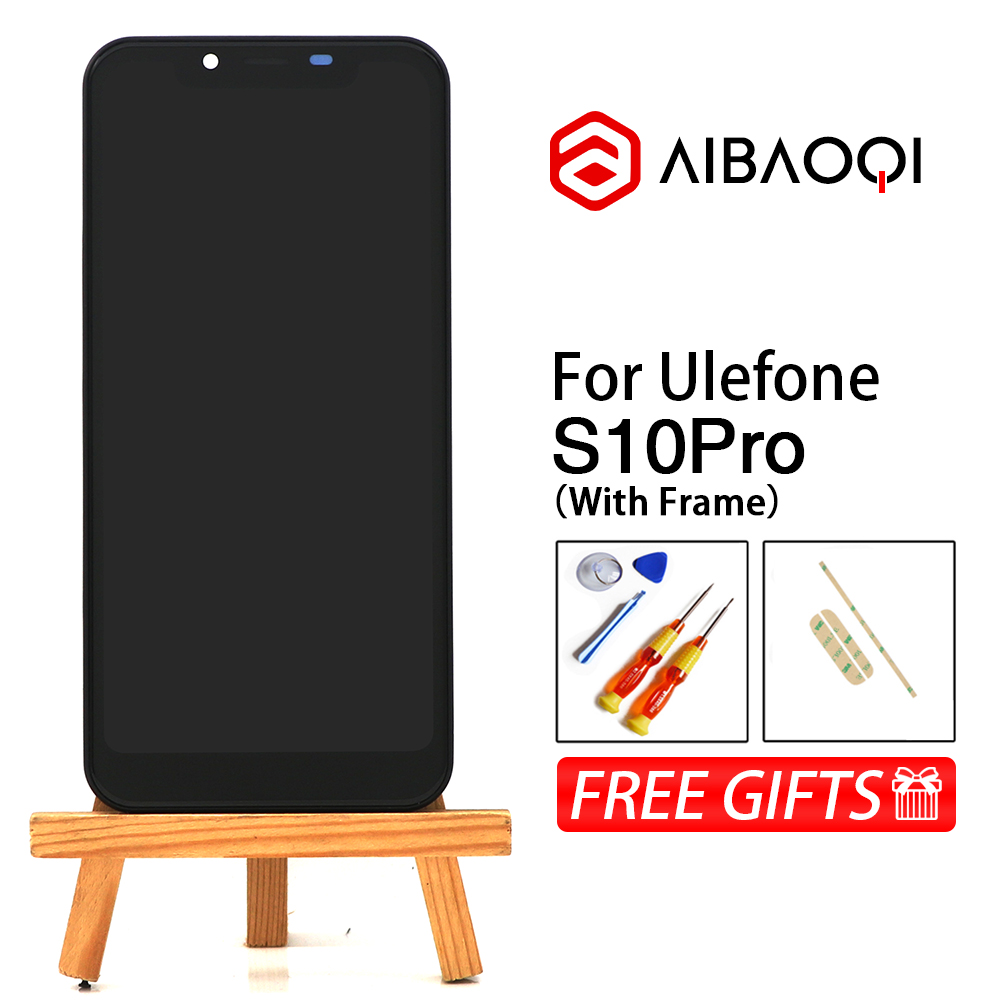 New Original 5 7 inch Touch Screen 1498x720 LCD Display Frame Assembly Replacement For Ulefone S10