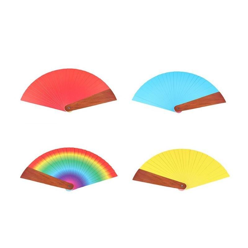 Quatre couleurs ventilateur magique changement de couleur stade de ventilateur gros plan accessoires magiques jouets drôles accessoires de Performance magique nouveauté drôle - 5