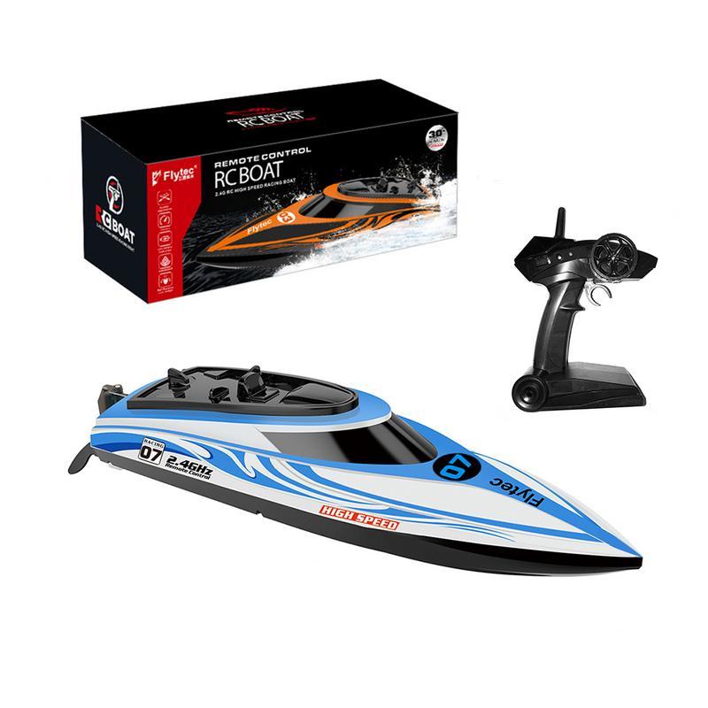 Bateau télécommandé course bateau à rames Induction d'eau bateau télécommandé électrique à grande vitesse bateau jouet extérieur