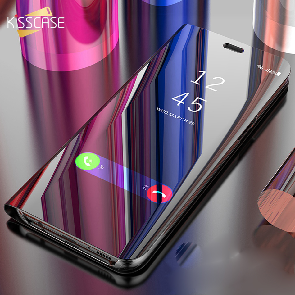 KISSCASE Glossy Wallet Holder Stand Flip Case For Samsung S10 Plus Lite J2 J3 J4 J5 J6 J7 J8 A6 A8 A9 2018 Phone Covers Fundas