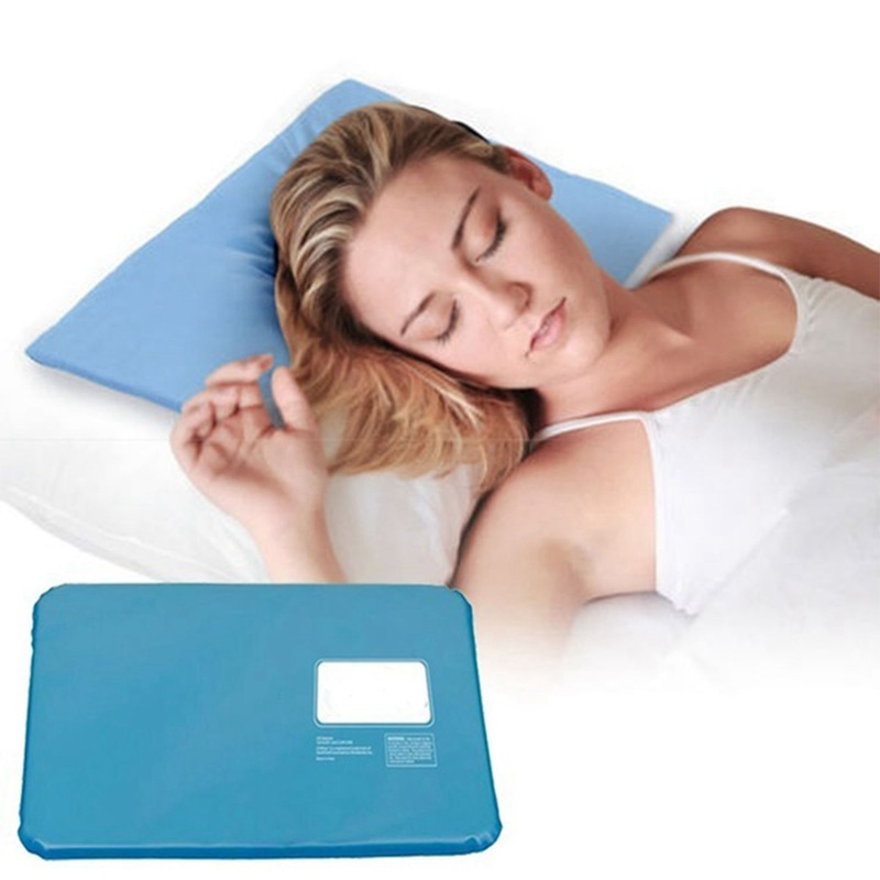 Hot Cool Cold Chillow Ice Pillow Aid Sleeping Cooling Insert Pad Mat Therapy Relax Muscle