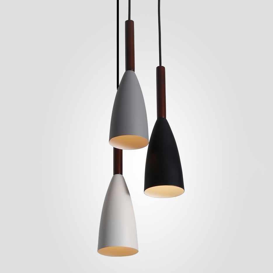 Скандинавский минималистичный подвесной светильник E27 алюминиевый светодиодный деревянный подвесной светильник s Декор для дома ресторана Светильник ing лампа бар витрина точечный светильник