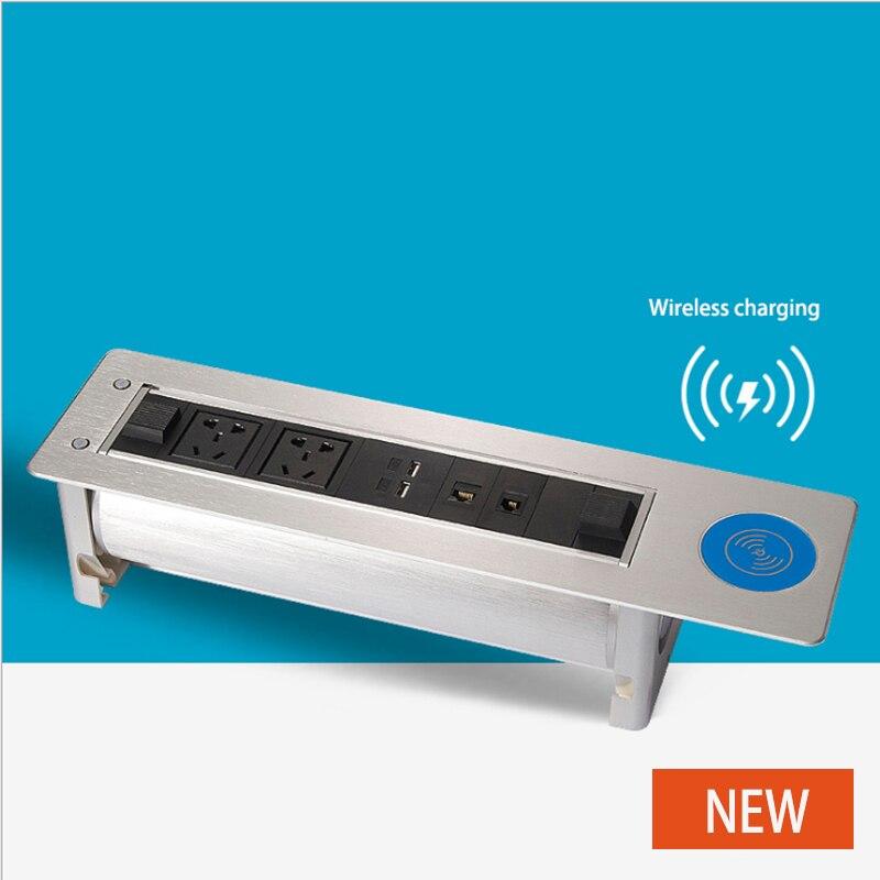Prise de charge électrique sans fil multi fonction multimédia boîte d'information prise cachée/équipement de bureautique/01 - 2