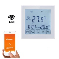 Thermostat 16A Electric Heating Thermostat WiFi Temperature Controller LCD Display with NTC Sensor Temperature Switch Digital