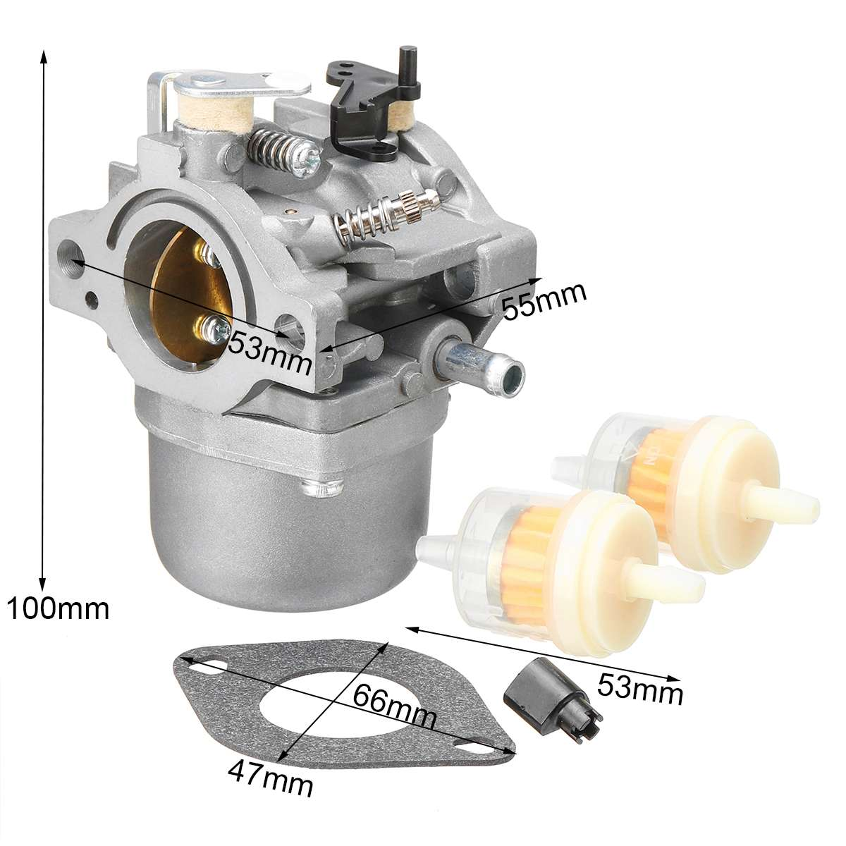 New Auto Carburetor For Briggs & Stratton Walbro LMT 5-4993 With Mounting Gasket Filter Fuel Supply System Parts Carburetor