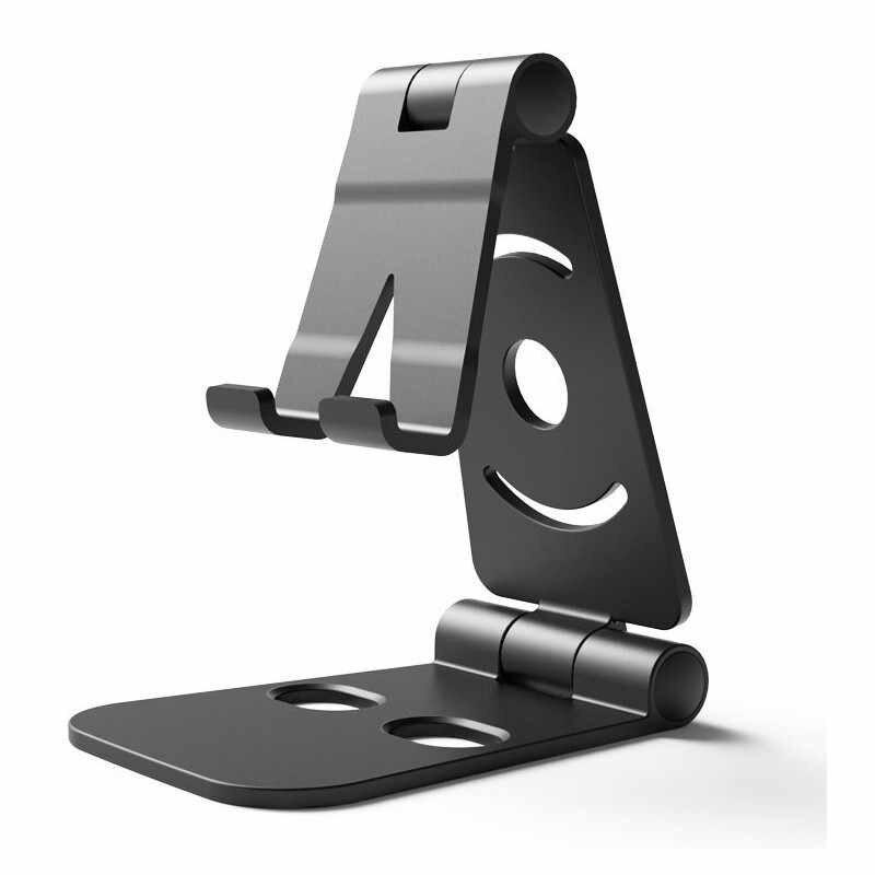 SeenDa ユニバーサル調節可能な携帯電話ホルダー Iphone の Huawei 社 Xiaomi プラスチック電話スタンドデスクタブレット金属スタンドデスクトップ