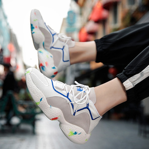 Image 5 - Schuhe Für Männer Turnschuhe Casual Männer Socke Schuhe Atmungs Tenis Masculino Adulto High Top Mann Trainer Zapatos Hombre Sapatos