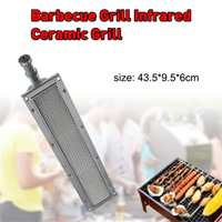 45*9.5*6cm BBQ barbecue BBQ infrared ceramic grill stainless steel ceramic gas burner stove aluminum plate ceramic energy saving
