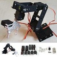 1set DIY 6 DOF 3D Rotating Metal Mechanical Manipulator Robot Arm Kit for Standard 55 Grams of Steering Gear