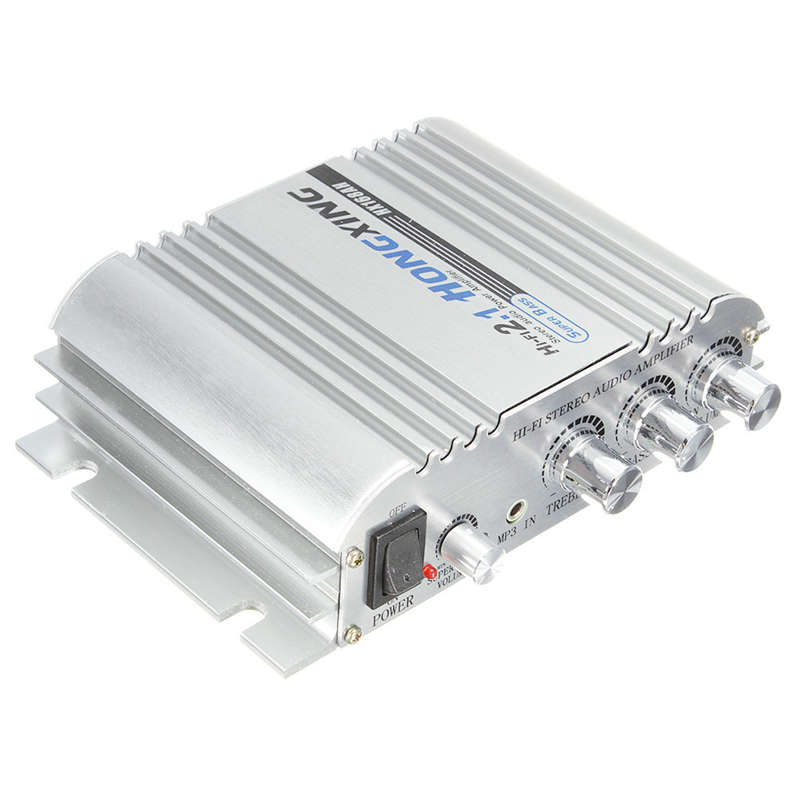 Hongxing 168Ah Car Amplifier Sound Mode Radio Mp3 Speaker Led Hi-Fi 2 Channel Mini Power Player Support Cd Dvd For Auto Motorc