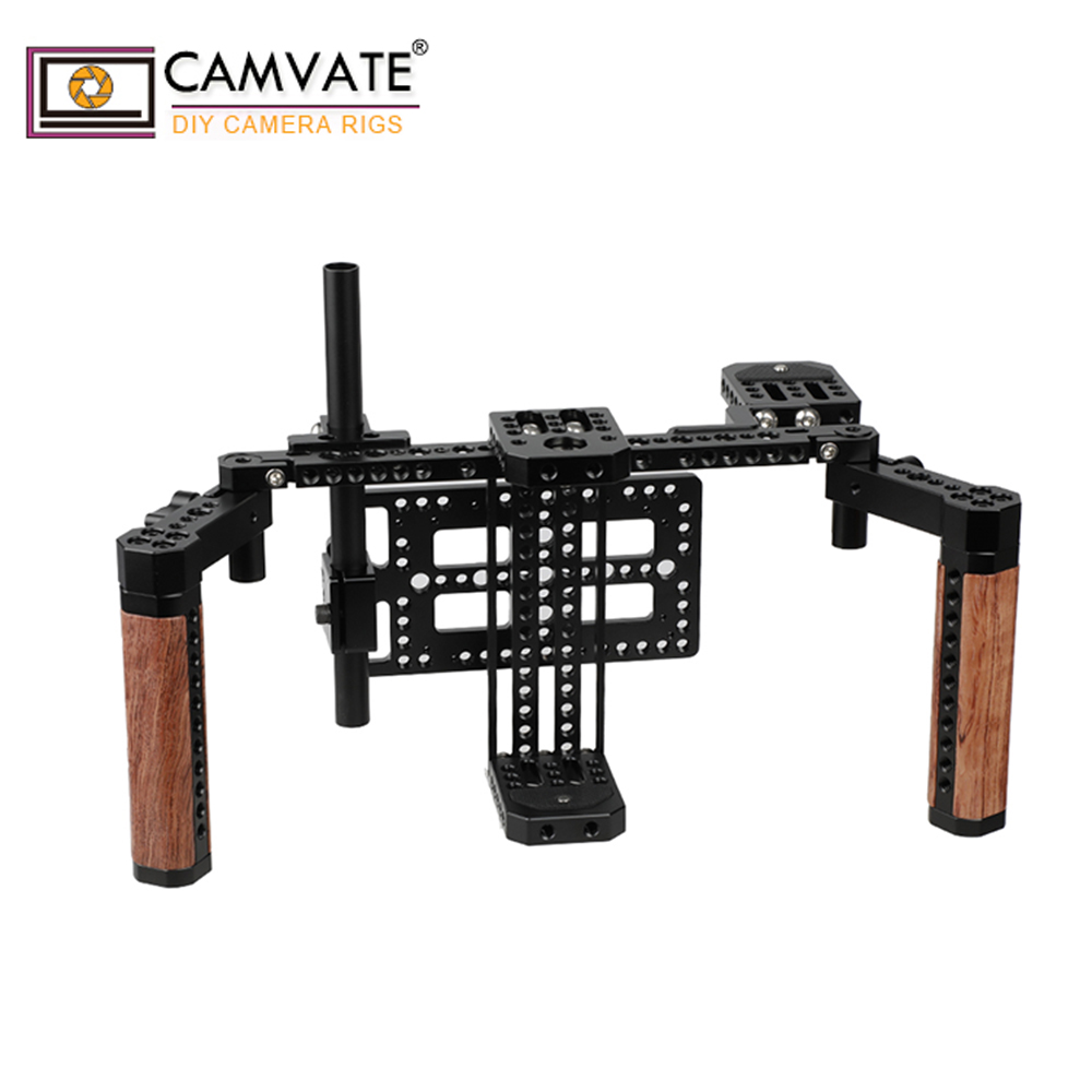 CAMVATE 5 and 7 LCD monitor Director s Monitor Cage Kit with Wood Handles C1763 camera