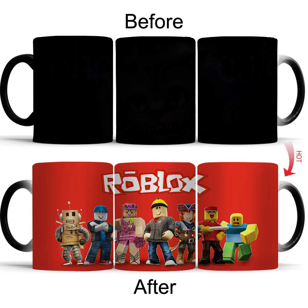 Wellcomics Game Roblox Rock Band Pattern Heat Reveal Mug Color Change Coffee Cup Sensitive Morphing Mugs Temperature Sensing Mug