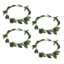 prettyia 4 Pieces Greek Roman Goddess Toga Leaves Laurel Wreath Head Band Party Costume Headwear Beach Hair Supplies