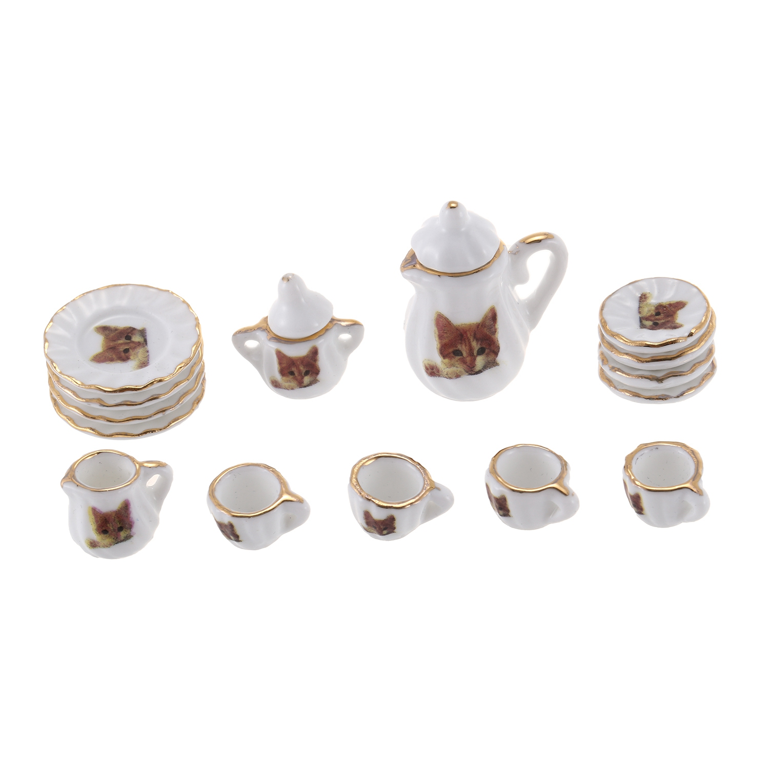 10 Mini White Coffee Cup Glue on Saucer Dollhouse Miniatures Supply Jewelry Deco