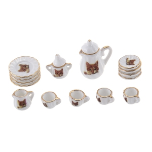 Set of 15pcs Dolls House Minia