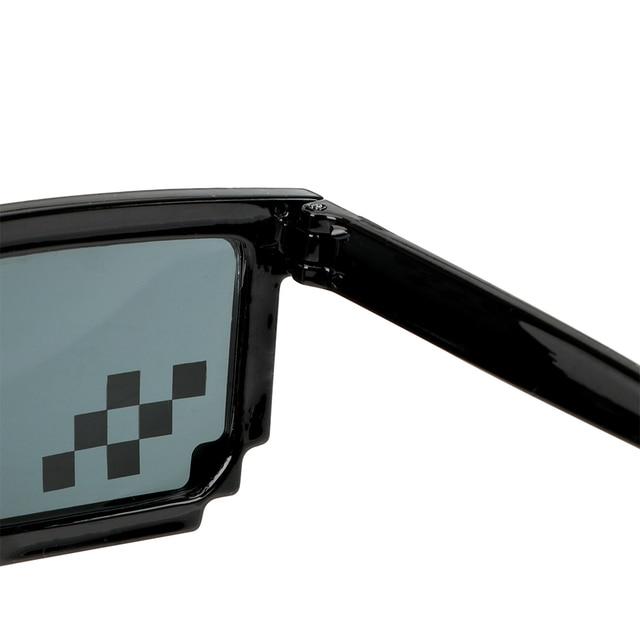 Motocycle Sunglasses UV Protection 3/6 Bit MLG Pixelated Sunglasses Motocross Bike Racing Glasses Mosaic Vintage Eyewear 4