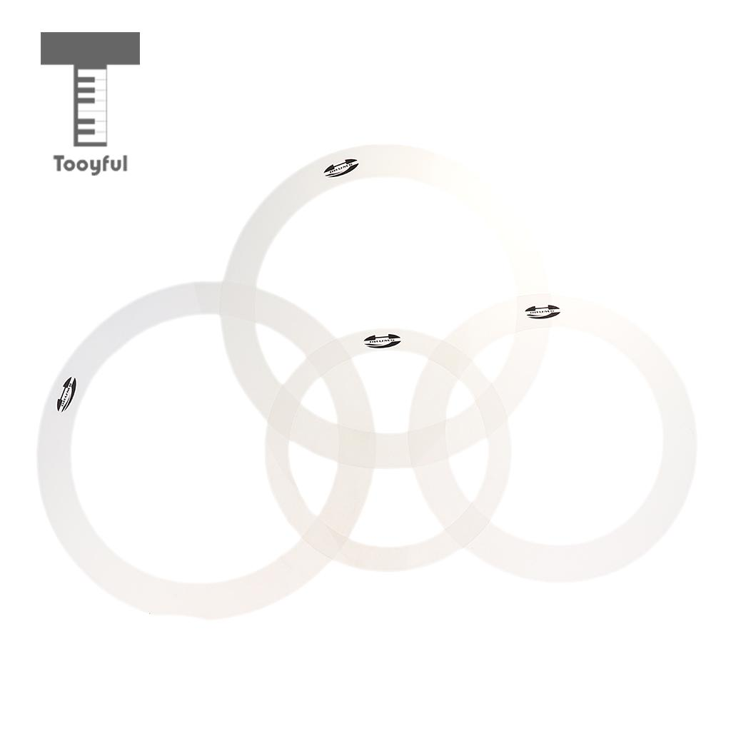 Tooyful 1 Pack/4pcs Drum Muffler Dampening Rings Bass Drum Tone Control Ring Eliminate Overtone For Drum Player Percussion Parts