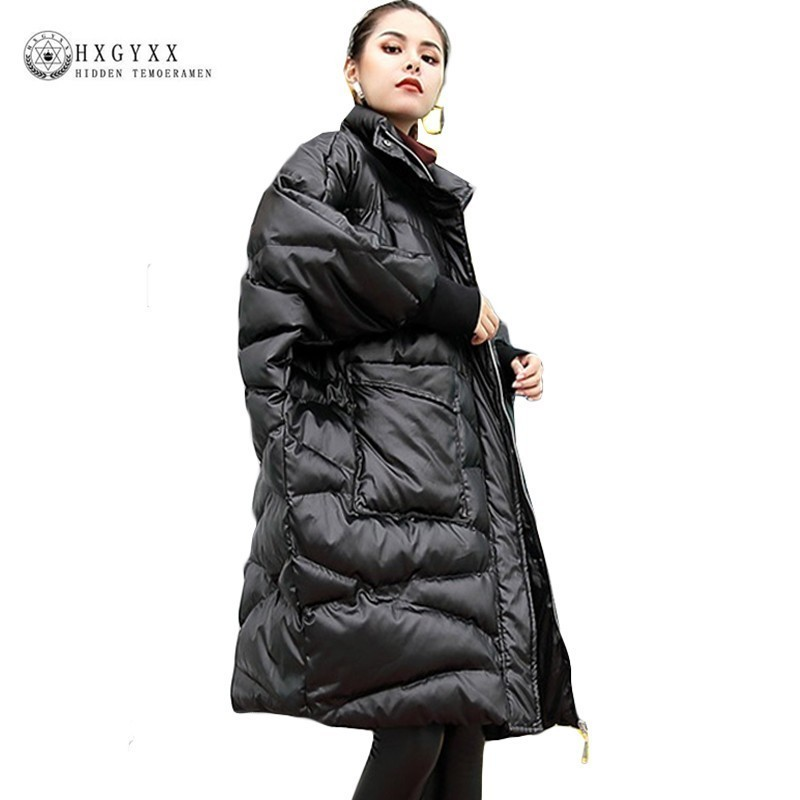 2019 Oversize Military   Parka   Female Thick Warm Outwear Batwing Sleeve Plus Size Cotton Winter Coat Women Quilted Jacket Okd537