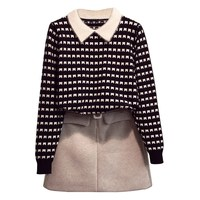 Spring Winter Pullovers Women Sweaters Long Sleeve Plaid Sueter Mujer Korean Sweaters