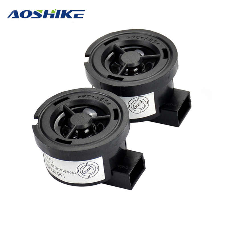 AOSHIKE 2PCS Car Tweeter 1Inch 4Ohm 35W Audio Speaker PP Basin Car Treble Speaker Loudspeaker With Capacitor 4.7UF For Ford