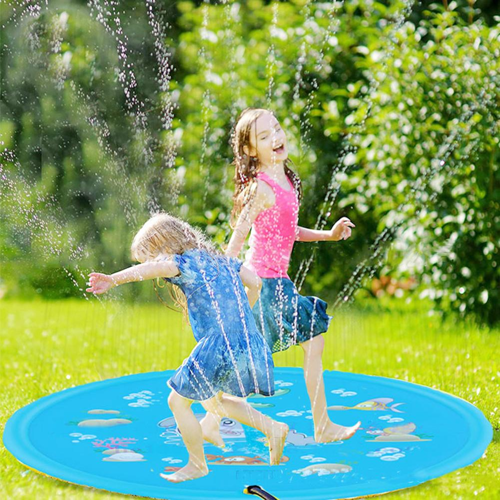 Summer Outdoor Baby Kids Water Play Mat Inflatable Lawn Toys Infant PVC Playmat Toddler Fun Activity Play Center Water Mat