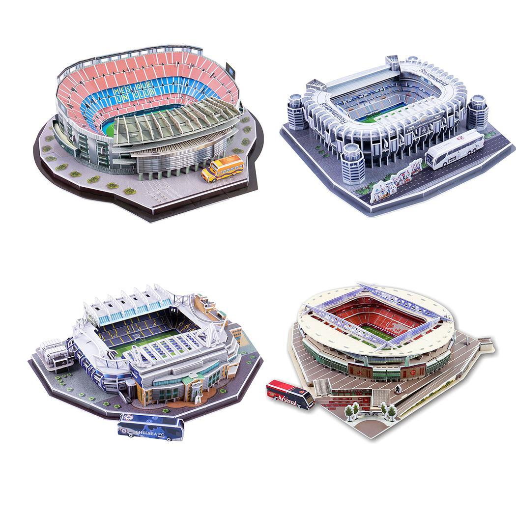 3D Puzzle European Soccer Club Venues JUV DIY Model Puzzle Toys Paper Building Stadium Football Soccer