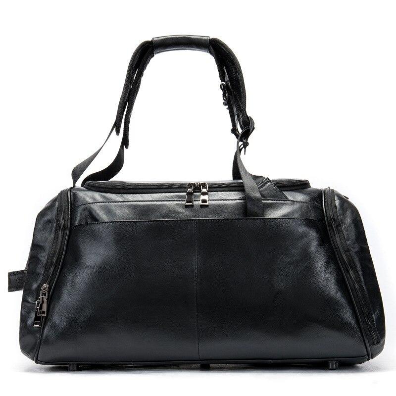 Nouveauté grande capacité Sac de voyage d'affaires hommes en cuir véritable Sac à main Homme Portable sacs à main en plein air bagages sacs Sac Homme