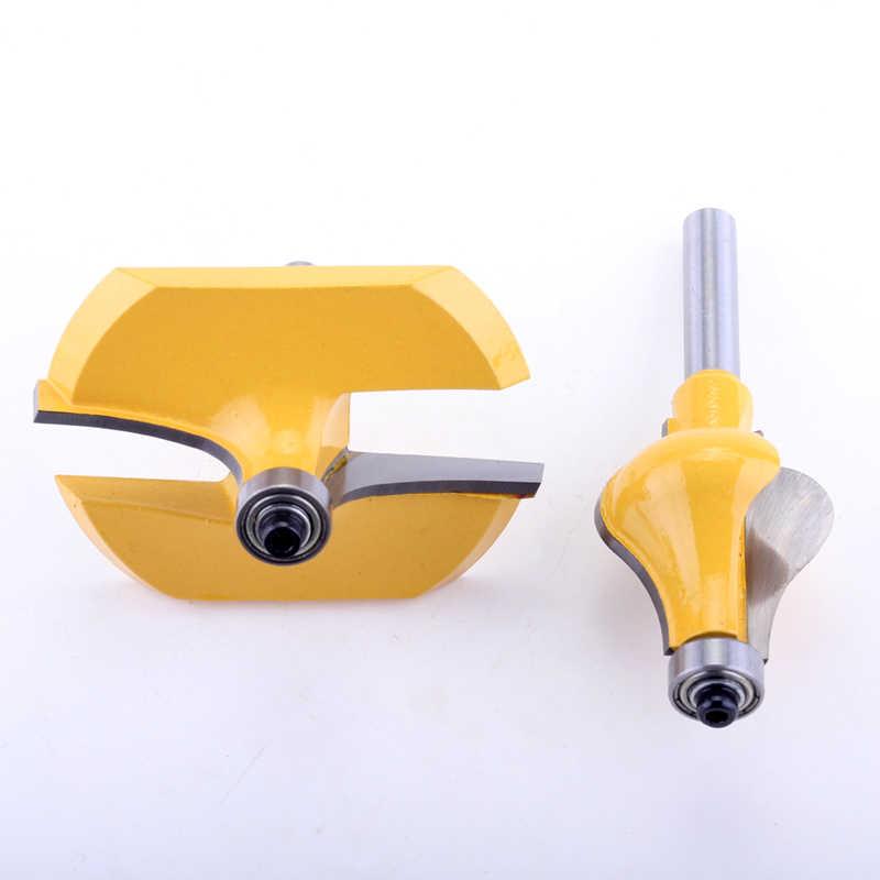 2 PC 8 Mm Betis Pegangan Router Bit Set-Standar/Flute Line Pisau Pemotong Kayu Tenon Cutter untuk alat
