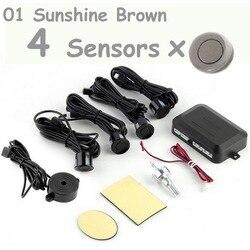 Датчик парковки автомобиля парктроника с 4 шт., черный, серебристый, белый, черный, синий, красный, 22 мм датчики, обратный резервный радар, зву...