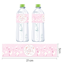 Omilut 12pcs Baby Shower Decoration Girl/Boy Mineral Water Bottle Label Baby Shower Birthday Party Supplies Bottle Stickers new 12pcs baby shower decorations girl mineral water bottle label unicorn bottle stickers birthday party supplies