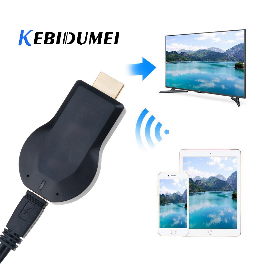 KEBIDUMEI For Anycast M2 Plus Miracast Chome Cast Wireless 1080p Hdmi Tv Stick Adapter Wifi Display Receiver Dongle For TV Phone