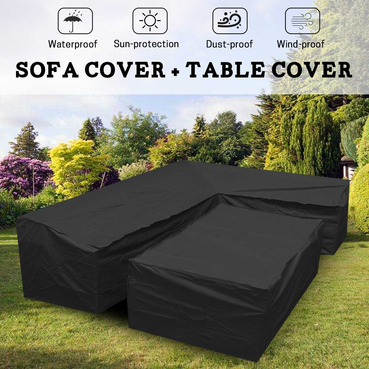 Astounding Us 29 59 31 Off L Shape Dustproof Furniture Cover Waterproof Outdoor Sectional Rain Dust Cover Wicker Corner Sofa Couch Covers All Purpose Cover In Theyellowbook Wood Chair Design Ideas Theyellowbookinfo