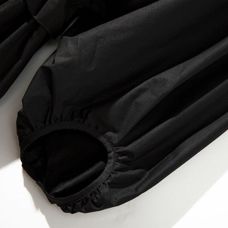 black Chemise Stand Taille Blusas White Tops 2019 Manches Super C7202 Été Nouveau Blusa Qualité Blouses Femmes Printemps Lanterne Feminina Et Blouse nP8w0Ok