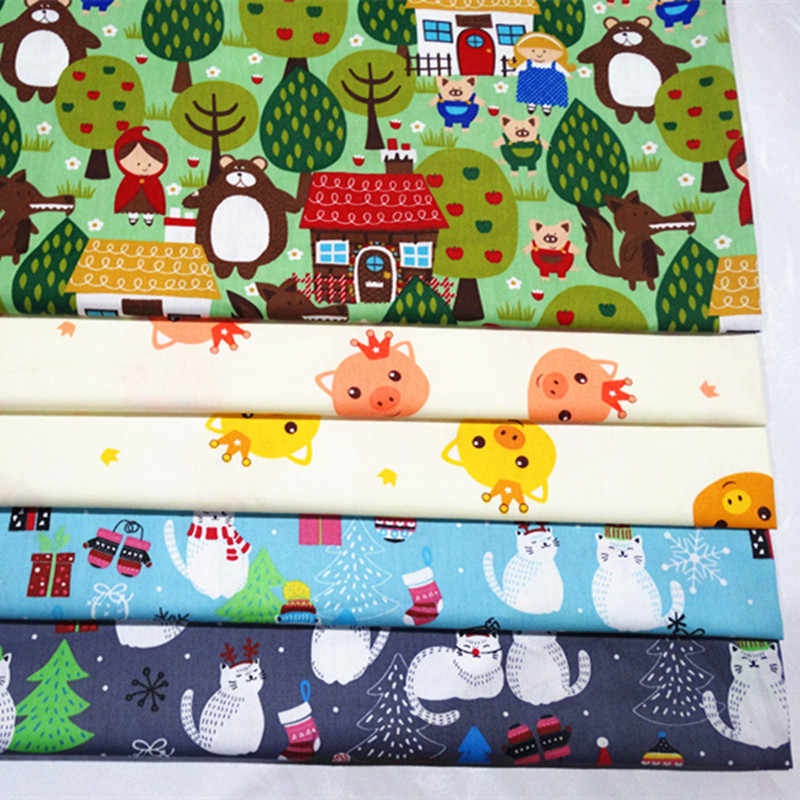 Cartoon Cotton twill fabric 100% Baby Cotton Cloth for DIY bedding cloth Sewing patchwork quilting fabrics