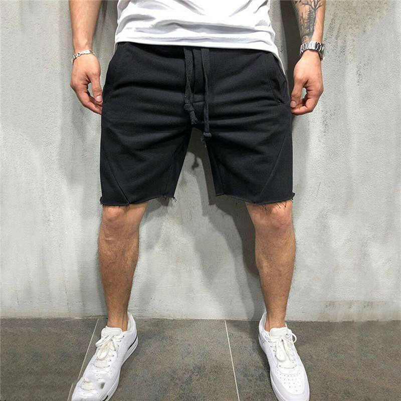 Men Gym Fitness Shorts Running Sports Workout Casual Jogging Sweat Panties Men's Soild Color Fashionable Short Trousers Hot Sale