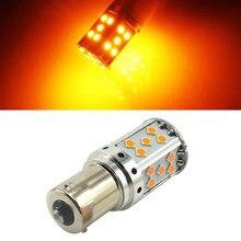 1Pc Livre de Erros 35-SMD BA15S 1156 Lâmpada LED Transformar a Luz do Sinal Âmbar Amarelo Canbus Lâmpada
