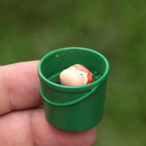 Ponyo в ведре Ponyo на скале фигурки модель игрушки сумка маленький магазин домашних животных мини-игрушки животные Рыба игрушки для детей