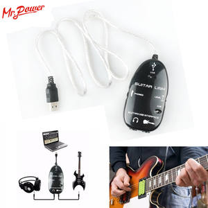 Guitar Cable Interface Audio-Connector Adapter Music-Recording for 10pcs Link USB CD